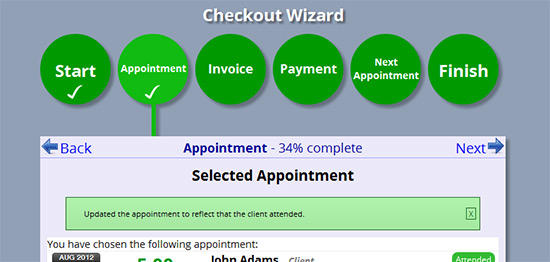 Step 2: choose an appointment